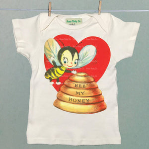 Acme Baby Co. - Bee My Honey Organic Baby Shirt - Natural - Le Bébé Chic Boutique