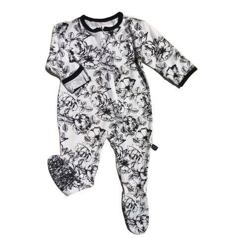 Peregrine Kidswear - Floral Signature Footed Sleeper - Le Bébé Chic Boutique