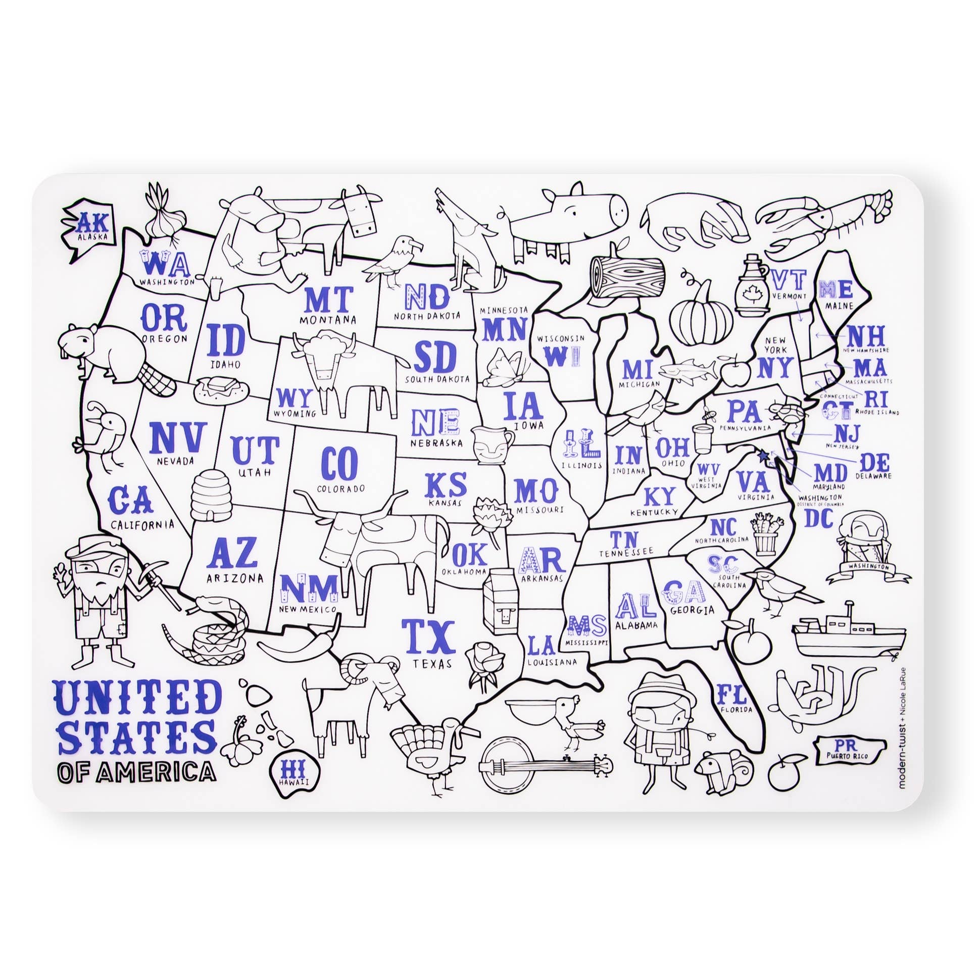Mark-Mat: USA Map - Le Bébé Chic Boutique