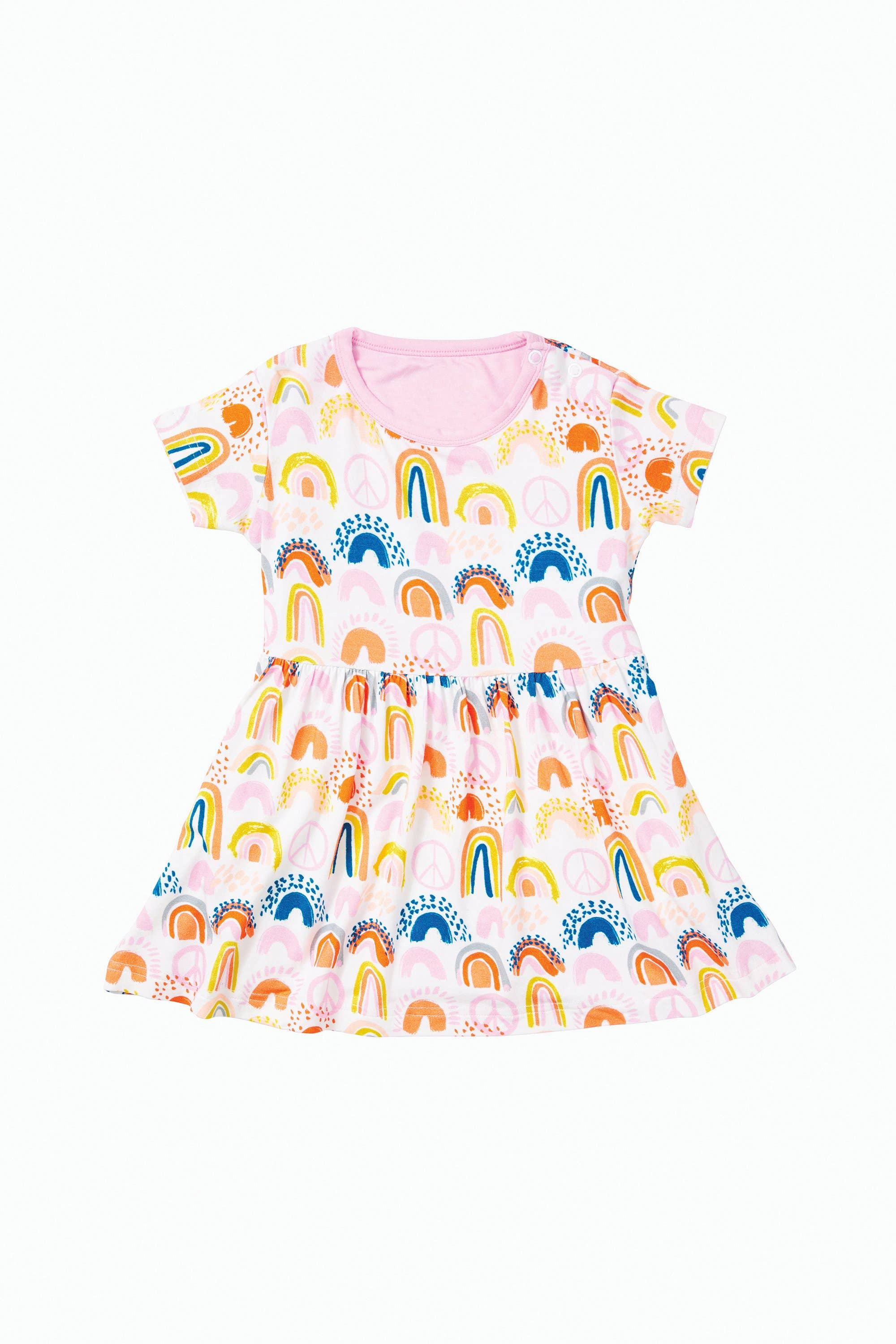 Clover Baby & Kids Rainbow Dress Pink