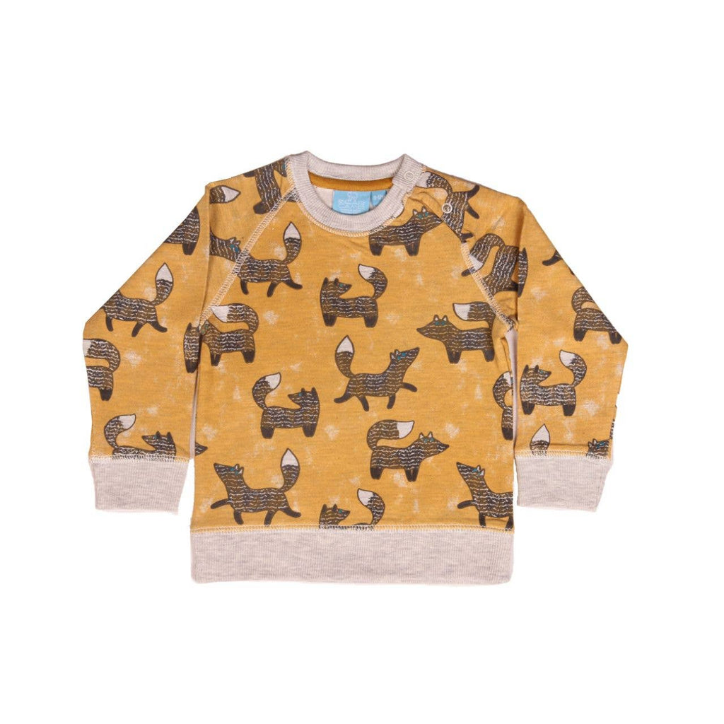 Bear Camp Fox Print Pullover