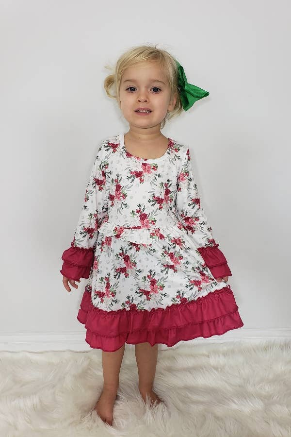 Clover Cottage Winter Garland Girls Dress