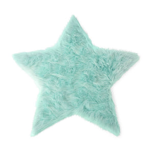 Kroma Carpets - Faux Sheepskin Star Mint Rug Large