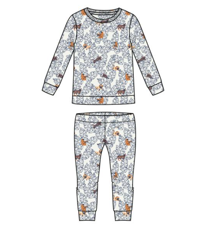 Lions, Tigers, and Bears Two Piece PJ/Lounge Set