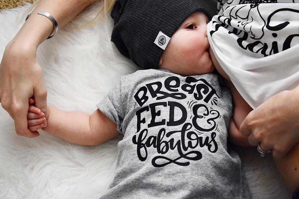 spillthebeansetc - Breastfed and Fabulous Tee or Bodysuit - Le Bébé Chic Boutique