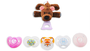 5 in 1 Pacifier holder Teether, Bear - Le Bébé Chic Boutique