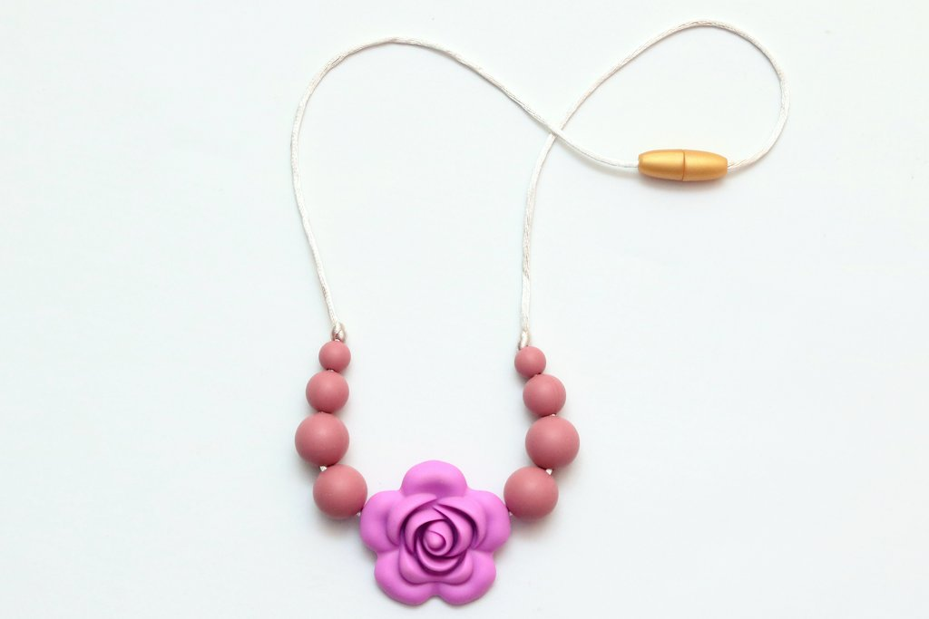 Getting Sew Crafty - (CHILD) Flower Teething Necklace - Le Bébé Chic Boutique