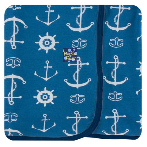 KicKee Custom Print Toddler Blanket (Twilight Anchor with Twilight Anchor Reverse - One Size) - Le Bébé Chic Boutique