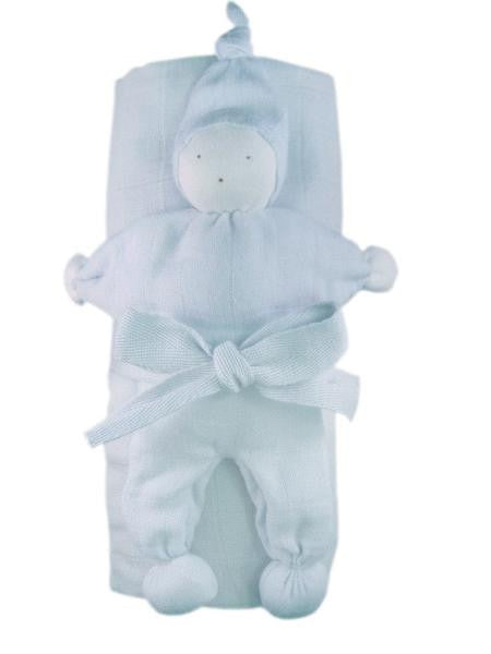 Swaddle Blanket Gift Set - Ice Blue - Le Bébé Chic Boutique