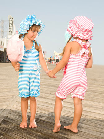 Turquoise Cotton Candy with Swim Cap - Le Bébé Chic Boutique