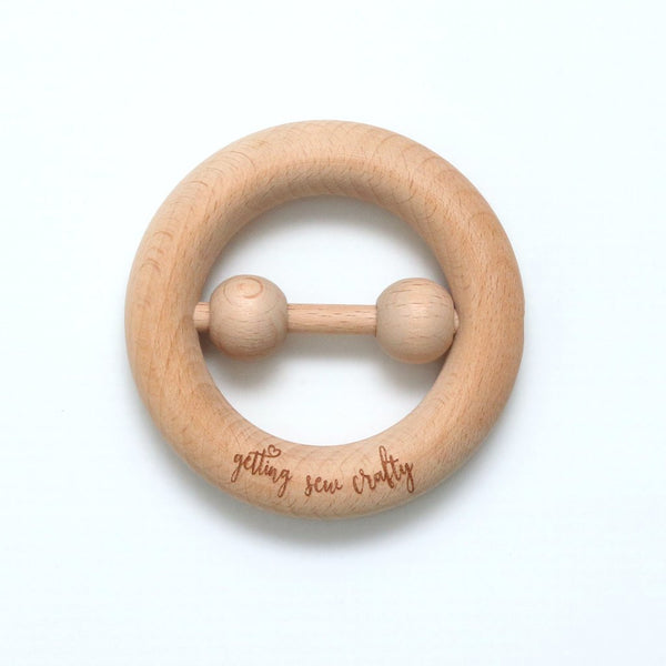 Beechwood Teether Rattle - Le Bébé Chic Boutique