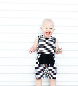 The Tank Romper II (Black Stripe) - Le Bébé Chic Boutique