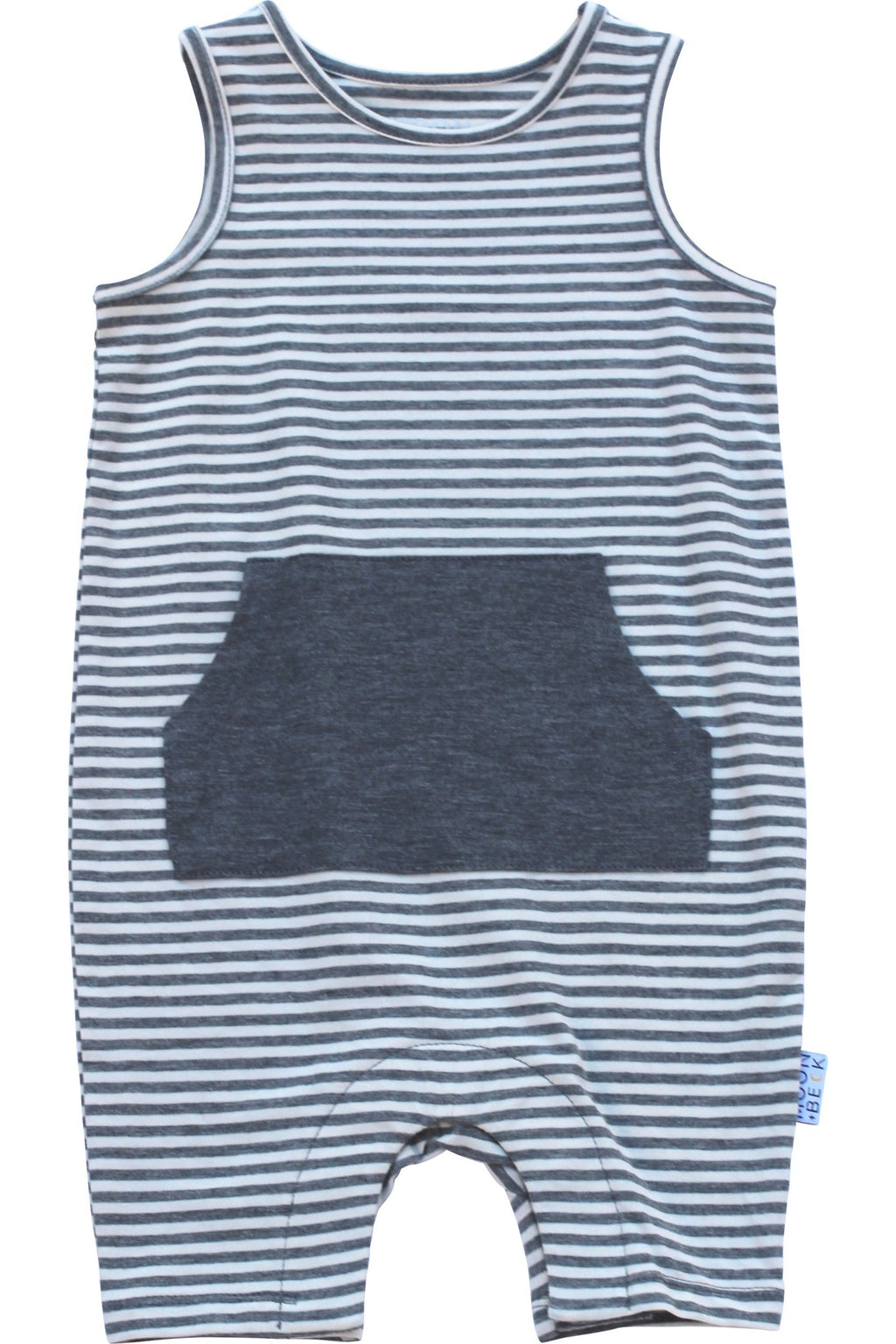 The Tank Romper II (Grey Stripe)