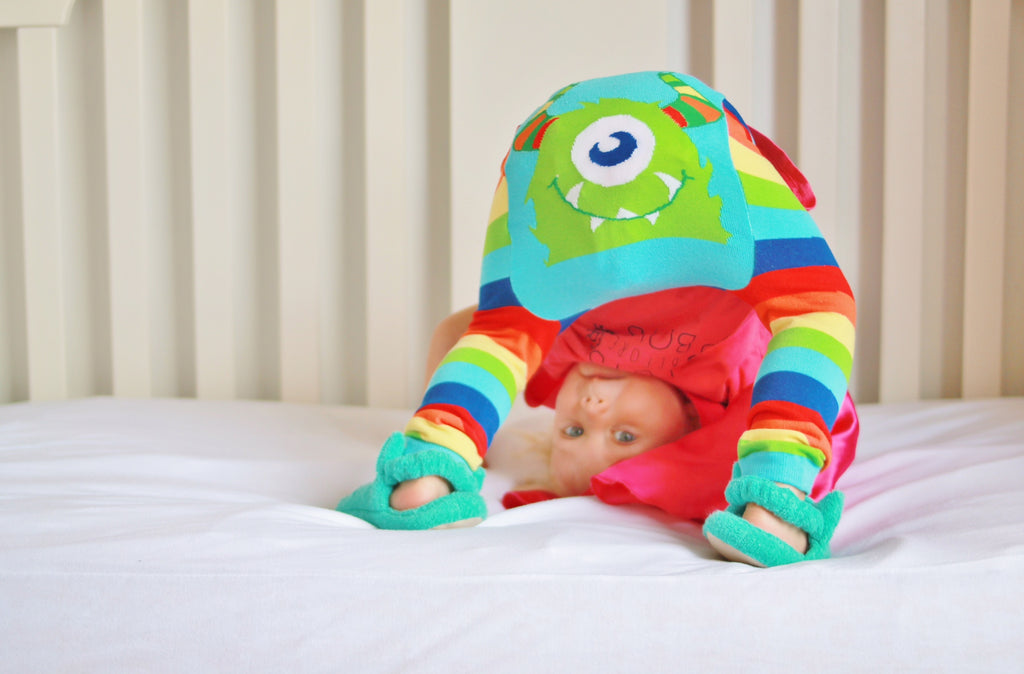 Doodle Pants - Rainbow Monster Cotton Leggings - Le Bébé Chic Boutique