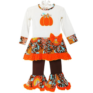 Annloren Pumpkin Dress - Le Bébé Chic Boutique