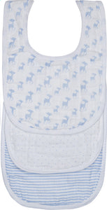 Muslin Lela Light Blue Bib Pack - Le Bébé Chic Boutique