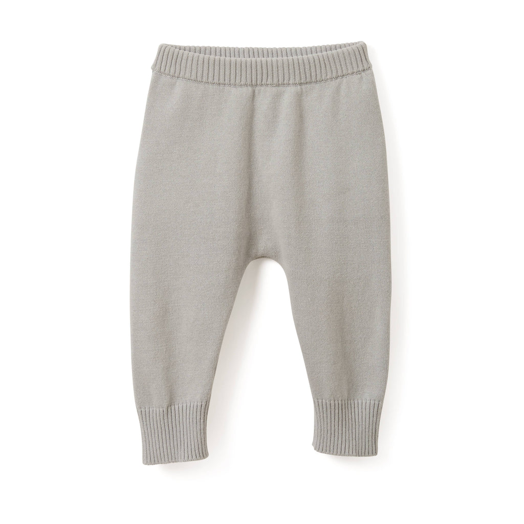Gray Knit Pants - Le Bébé Chic Boutique