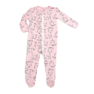 Bamboo Zip-up Footed Sleeper - Le Bébé Chic Boutique