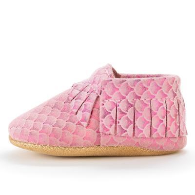 BirdRock Baby - Pink Mermaid Genuine Leather Baby Moccasins - Le Bébé Chic Boutique