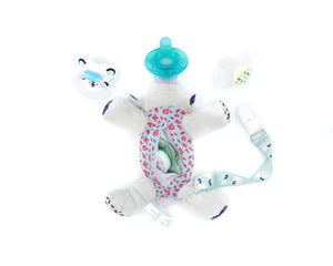5 in 1 Pacifier holder Teether, Sheep - Le Bébé Chic Boutique