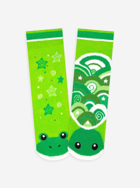 Pals Socks - Frog & Turtle Artist Series Kids Mismatched Animal Socks