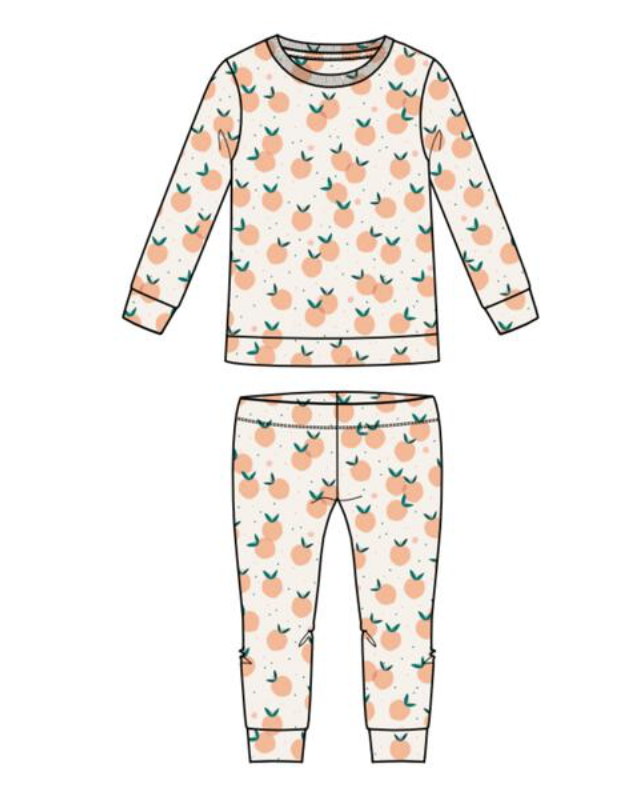 You're A Peach Two Piece PJ/Lounge Set