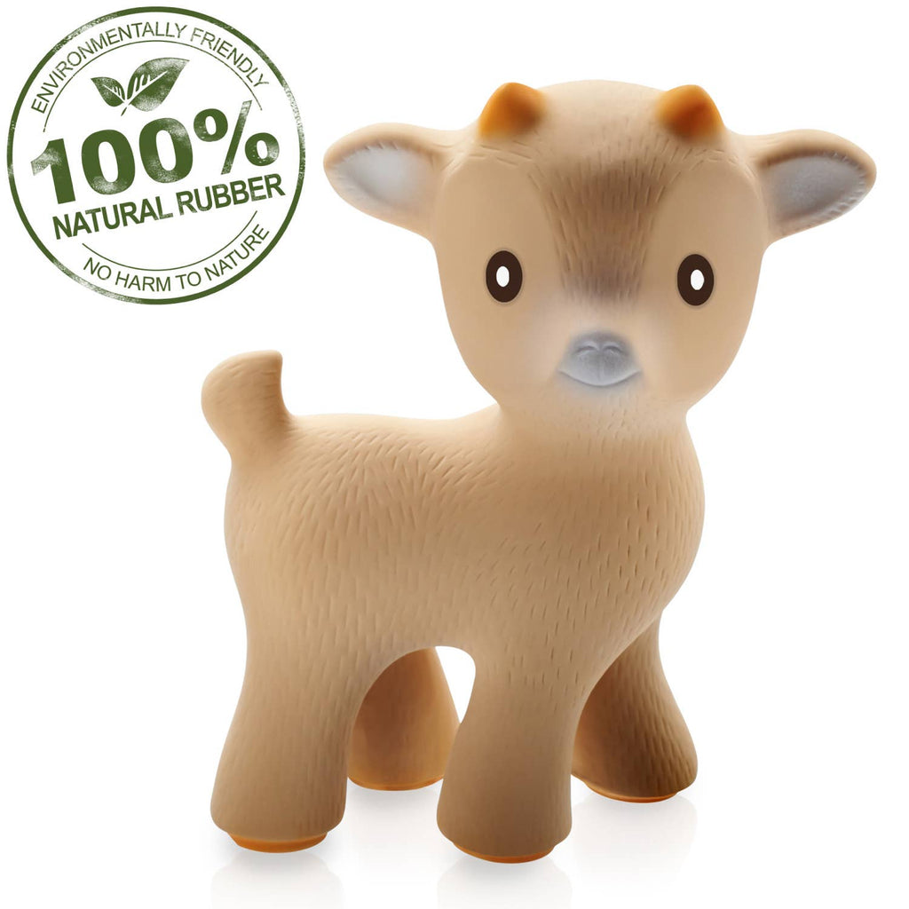 Sola the Goat Teething Toy - 100% Pure Natural Rubber - Le Bébé Chic Boutique
