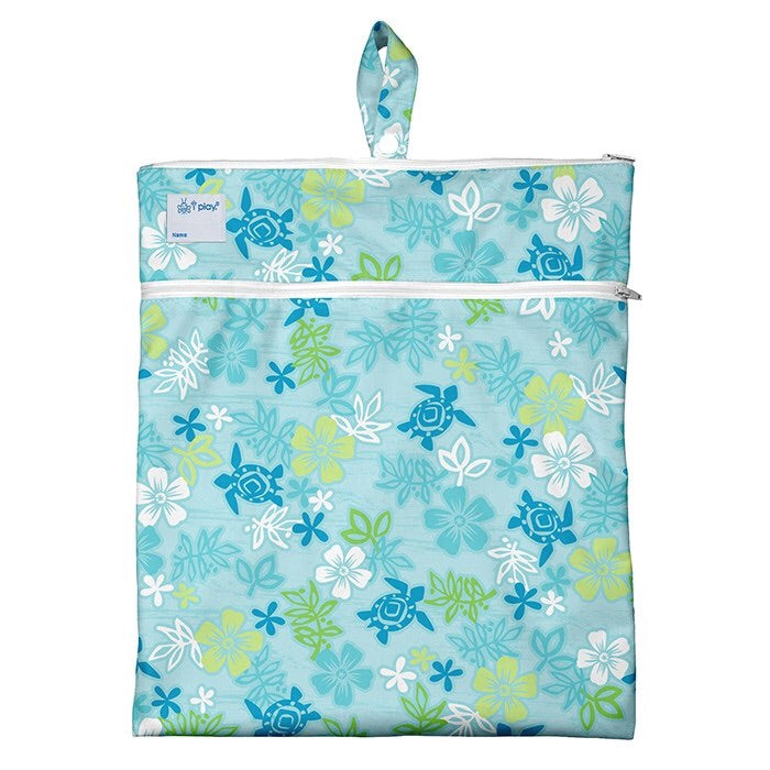 Wet & Dry Bag-Aqua Hawaiian Turtle - Le Bébé Chic Boutique