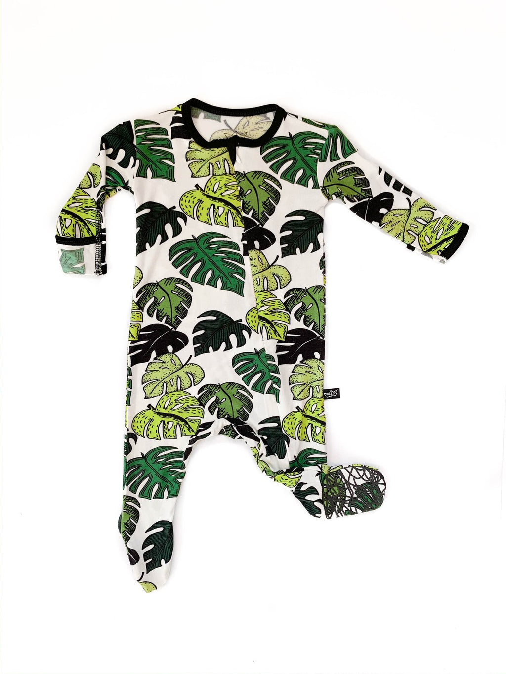Peregrine Kidswear - Palm Leaves Bamboo Footed Sleeper