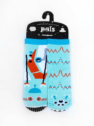 Pals Socks - Robot & Alien Kids Collectible Mismatched STEM Socks