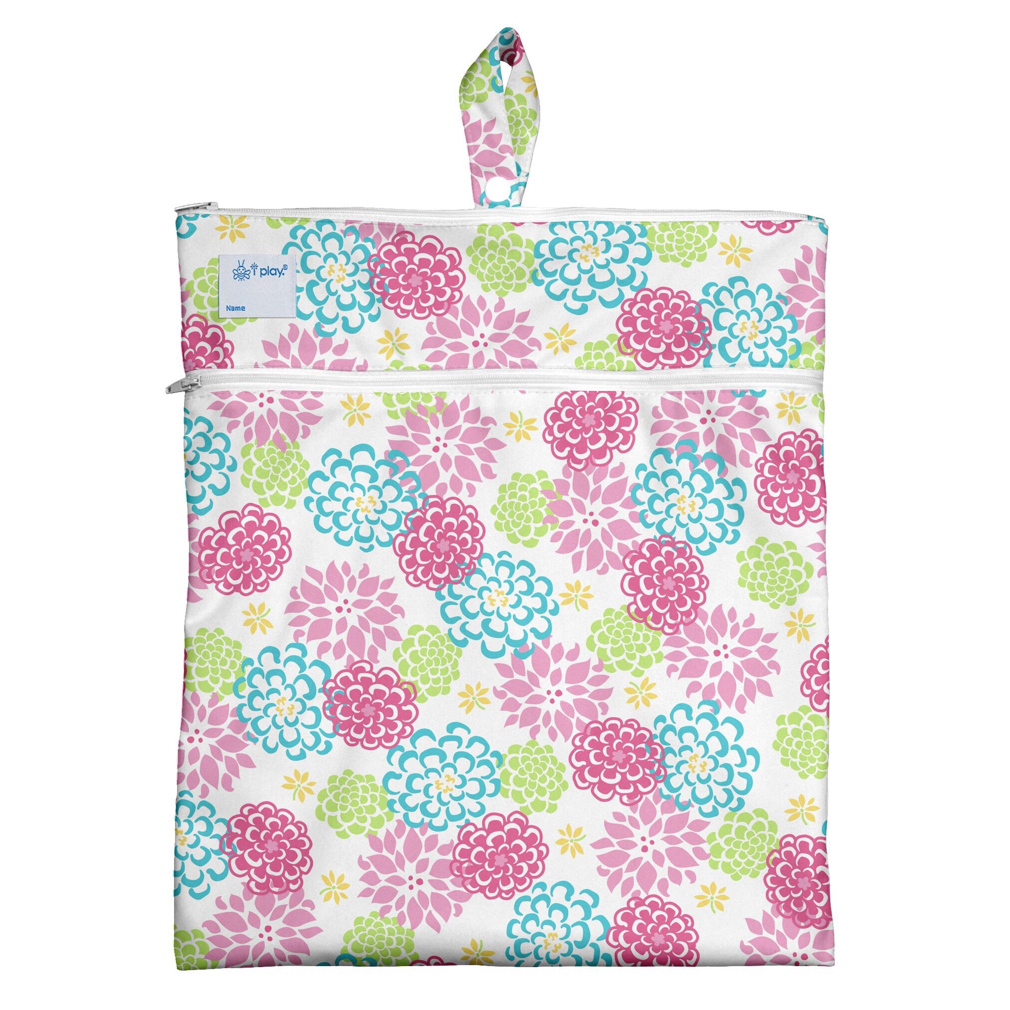 Wet & Dry Bag-White Zinnia - Le Bébé Chic Boutique