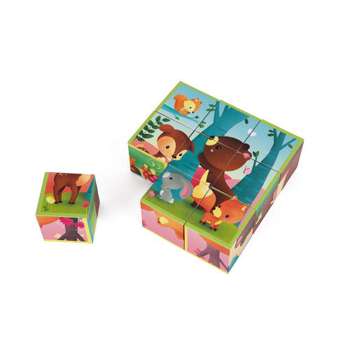 Janod Kubkid 9 Blocks - Forest Animals