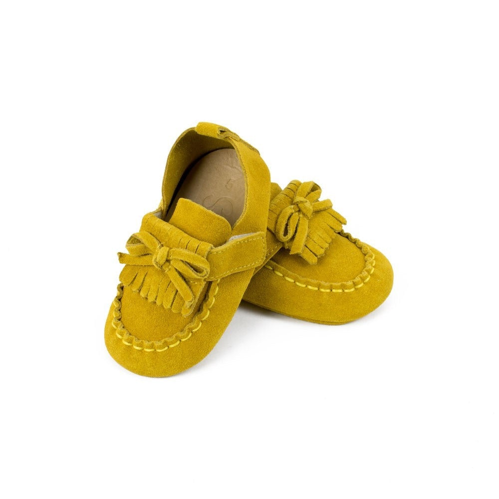 SoJo Moccs Lollie Teal Suede Leather Baby Moccasins with Self Fastening Strap