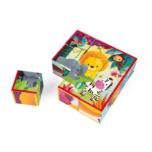 Janod Kubkid 9 Blocks - Jungle Animals