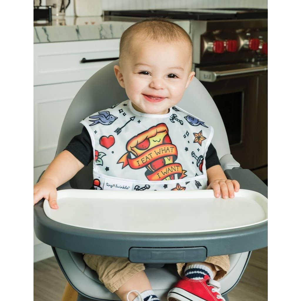 Tiny Twinkle Mess Proof Easy Bib 3pk - Boy