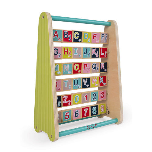 Janod Baby Forest ABC Wooden Abacus Toy - English