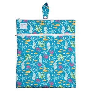 Wet & Dry Bag-Aqua Seahorse - Le Bébé Chic Boutique