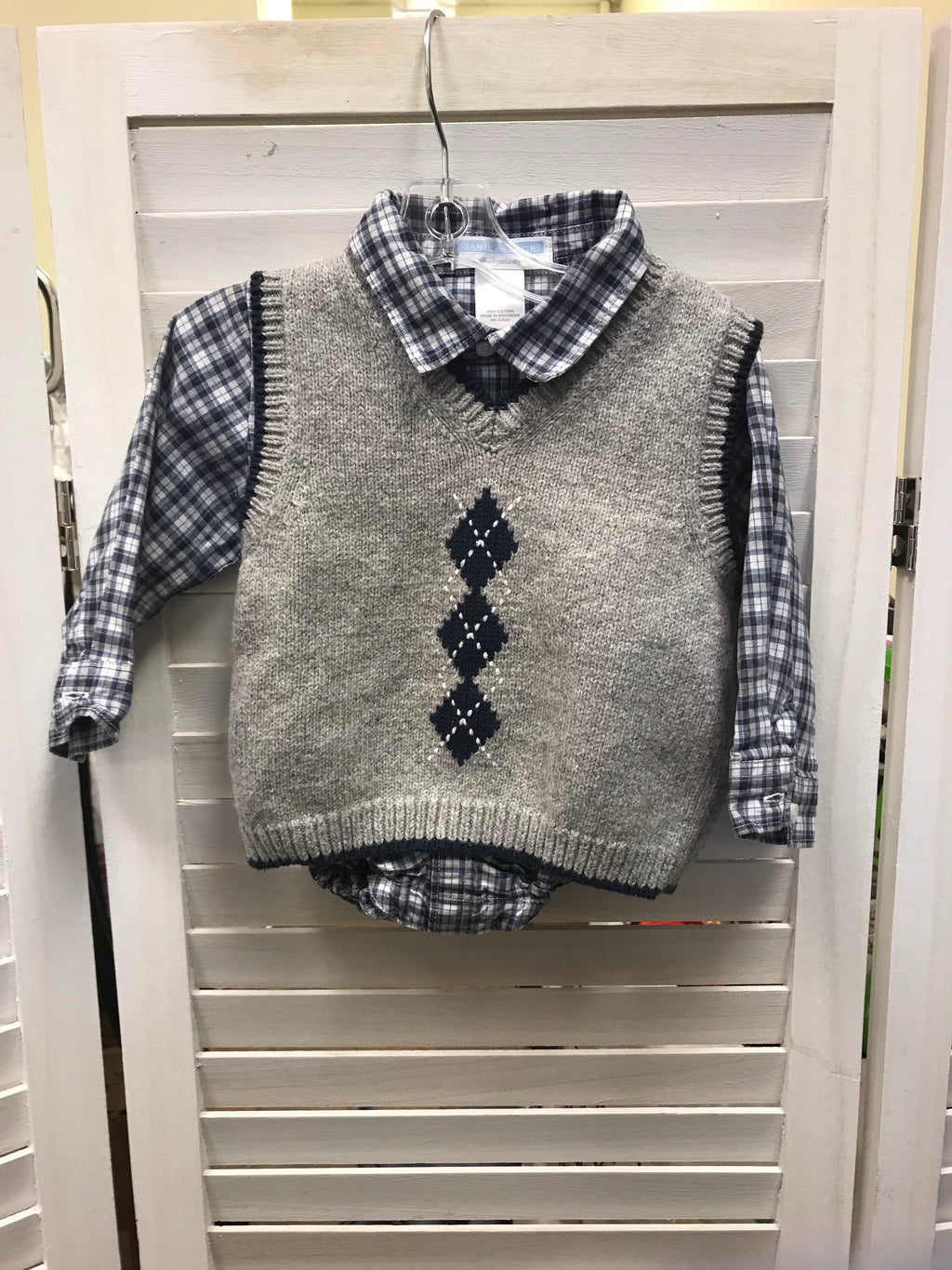 Janie and Jack shirt and vest set 6-12 mo