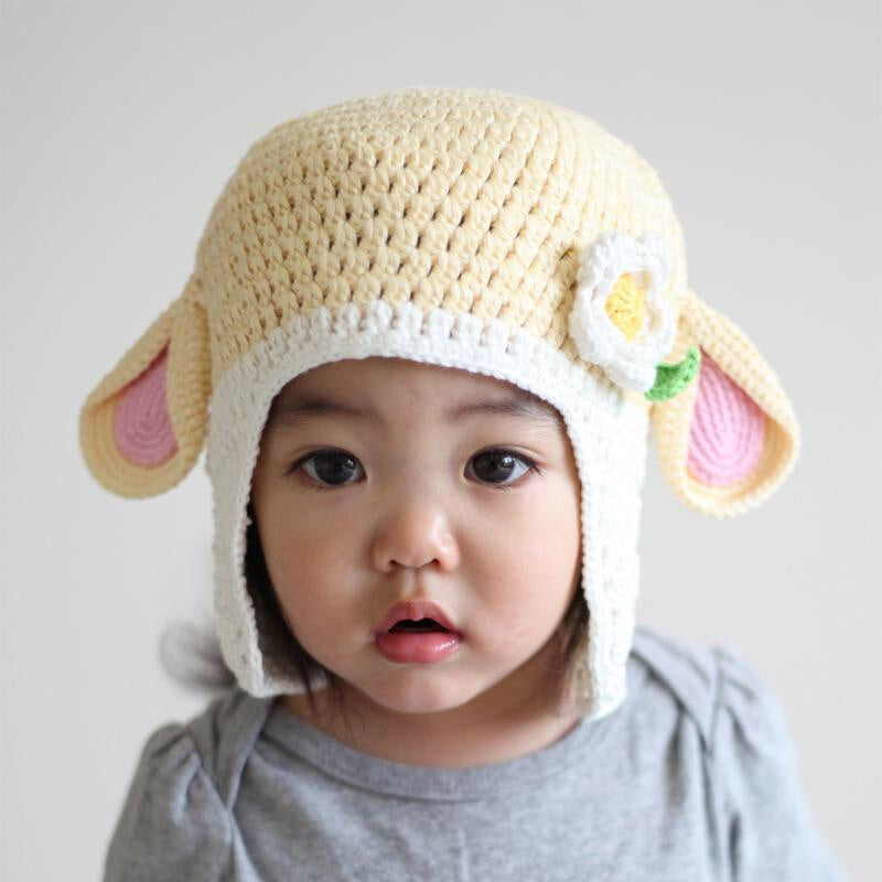 Crochet Lamb Hat 6 months - Le Bébé Chic Boutique