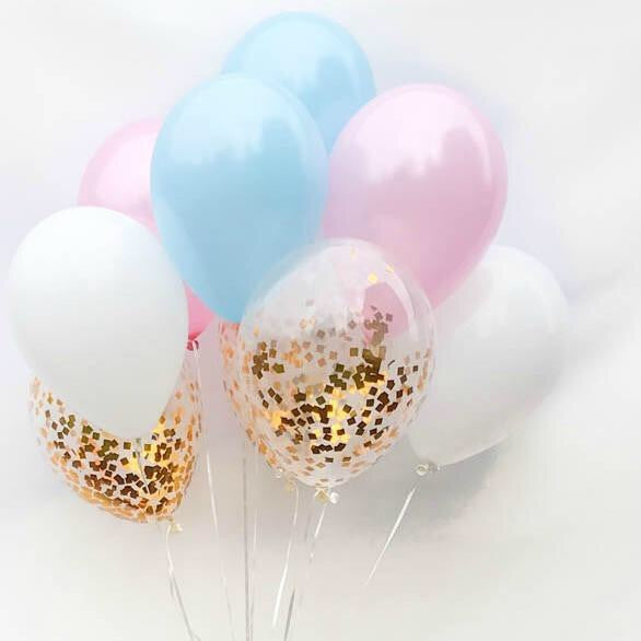 Gender Reveal Confetti Balloon Bouquet - Le Bébé Chic Boutique