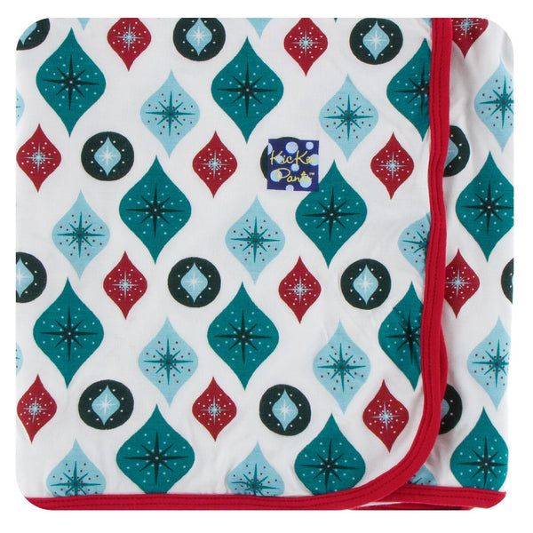 Kickee Pants Holiday Natural Ornaments Swaddle