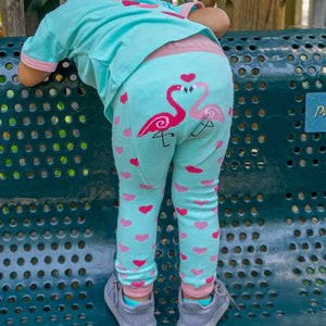 Flamingo Cotton Leggings - Le Bébé Chic Boutique