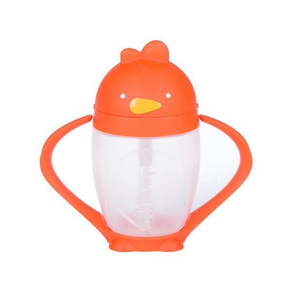 LollaCup Straw Sippy Cup-Happy Orange