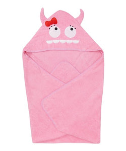 Pink Monster Hooded Towel - Le Bébé Chic Boutique