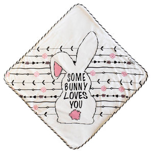 Some Bunny Loves You Hooded Towel - Le Bébé Chic Boutique