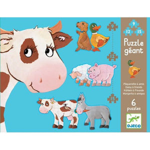 Daisy and Friends Puzzle 6 puzzles - Le Bébé Chic Boutique