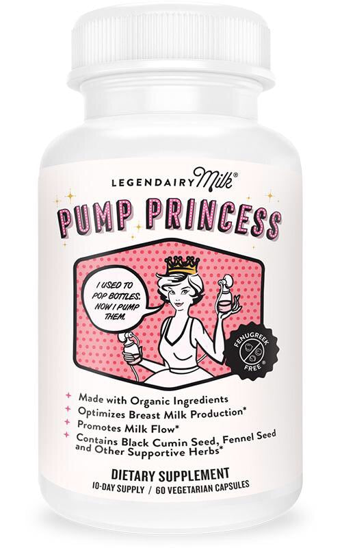 Pump Princess-Milk Production, Milk Flow, Mammary Growth, Prolactin Release 60 capsules - Le Bébé Chic Boutique