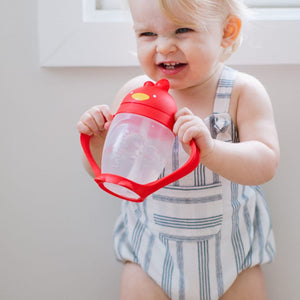 LollaCup Straw Sippy Cup-Bold Red - Le Bébé Chic Boutique