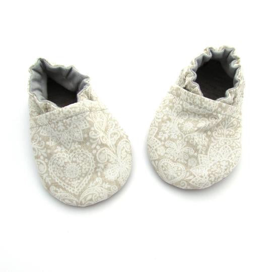 Lace Print Baby Shoes - Le Bébé Chic Boutique
