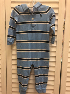 Ralph Lauren Striped Romper 12M - Le Bébé Chic Boutique